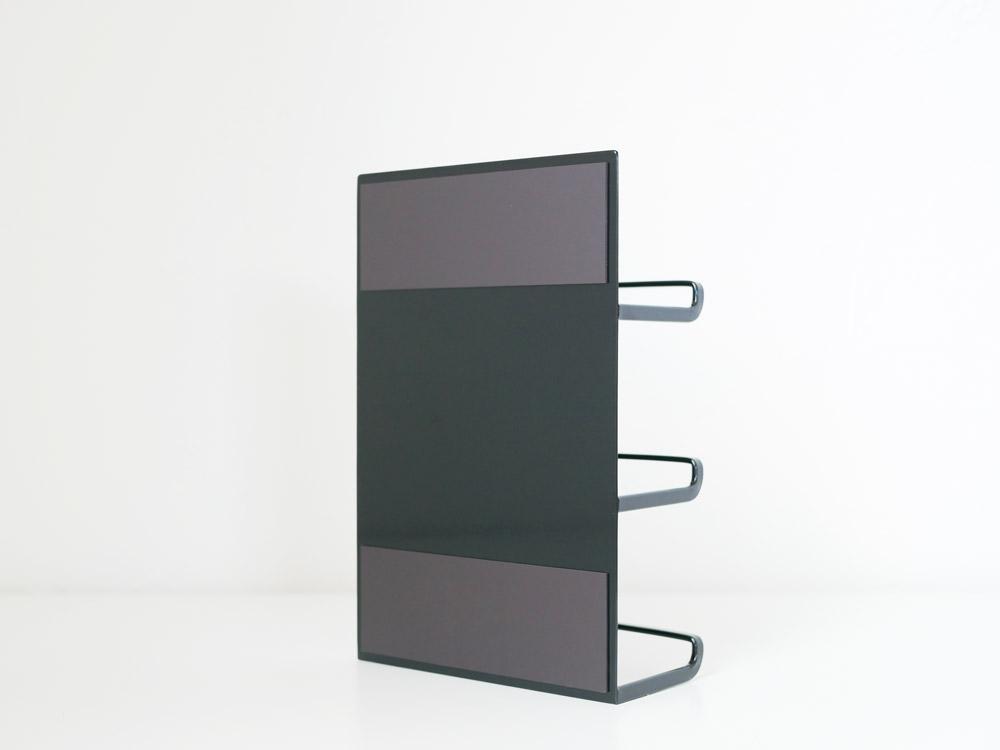 【tower】マグネットラップホルダー 3段 ブラック