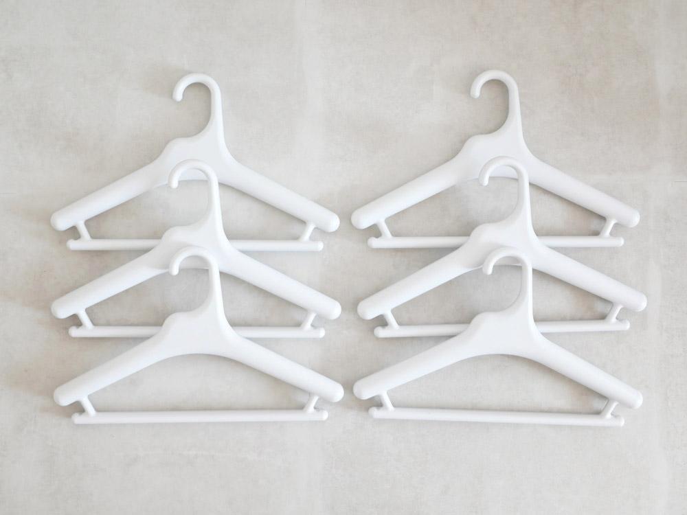 【like-it】Midline 370 滑り止めがついた衣類ハンガー 6本セット ホワイト