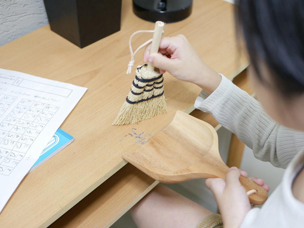 【Horn Please MADE】ソルガム デスクブラシ タイディアップ /ナチュラル