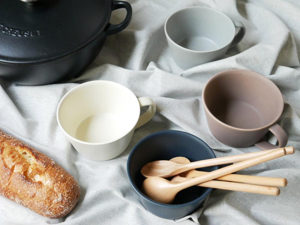【予約販売10月上旬入荷予定】【SAKUZAN】Sara スープカップ グレー