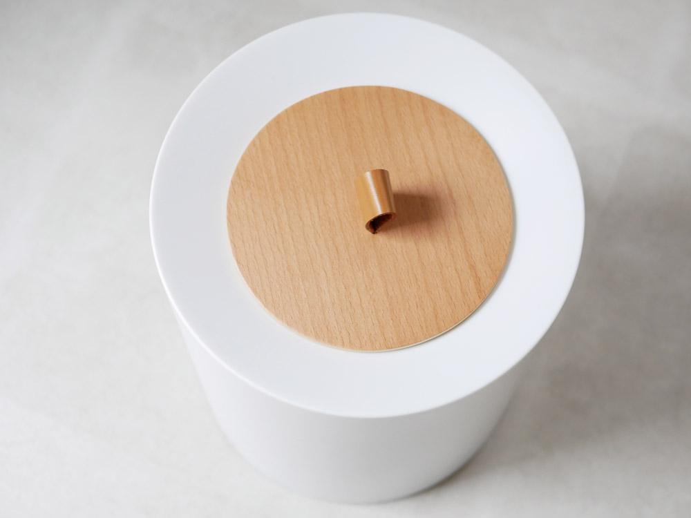 【TUBELOR HOMME 】丸型ダストボックス  リッチホワイト