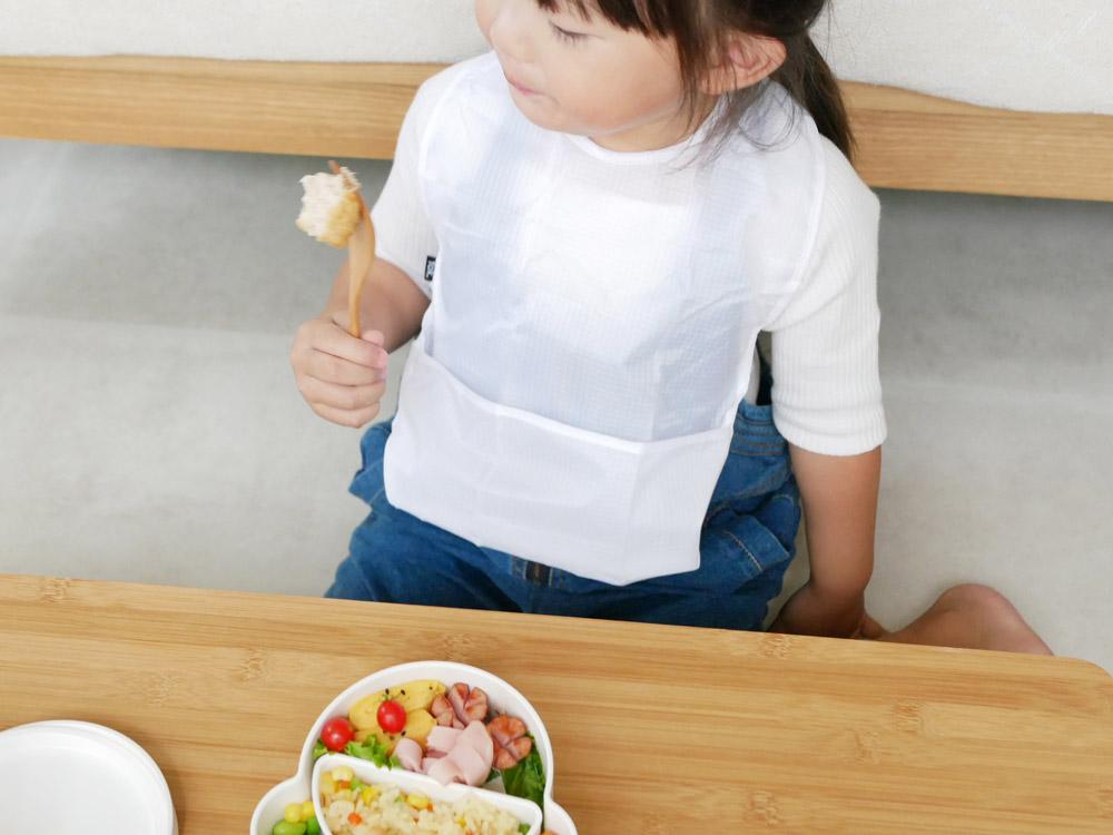 【tak.】 KIDS DISH ビブ  ホワイト