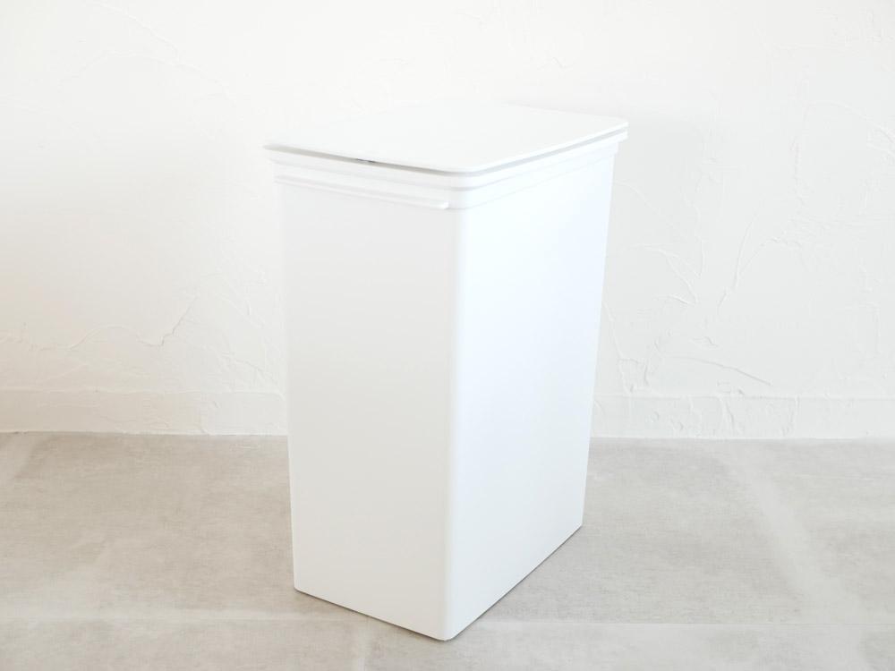 【like-it】プッシュオープントラッシュビン25L スリム/ホワイト