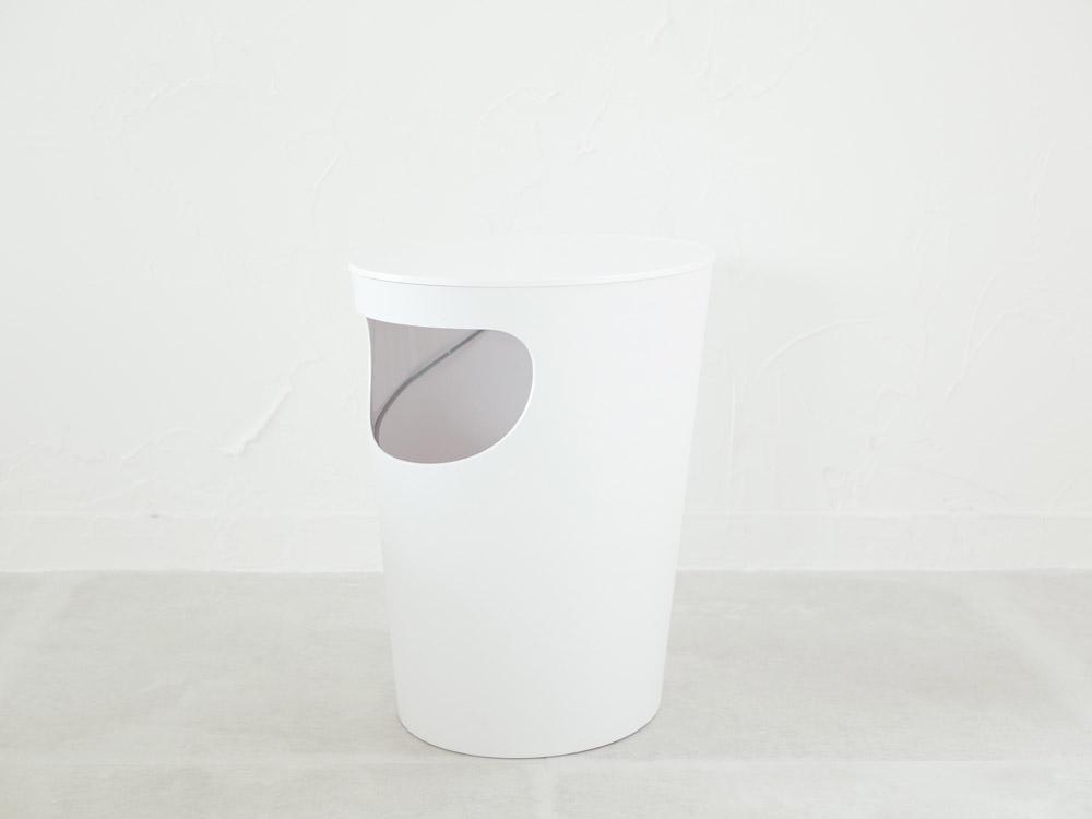 【ENOTS】 サイドテーブル  ホワイト(蓋つき)
