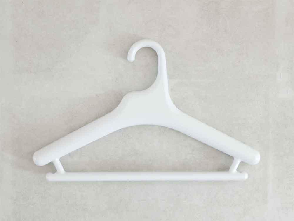 【like-it】Midline 370 滑り止めがついた衣類ハンガー 10本セット ホワイト