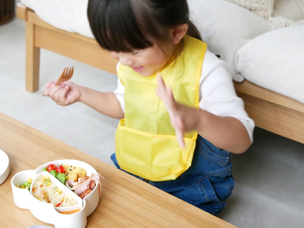 【tak.】 KIDS DISH ビブ  イエロー