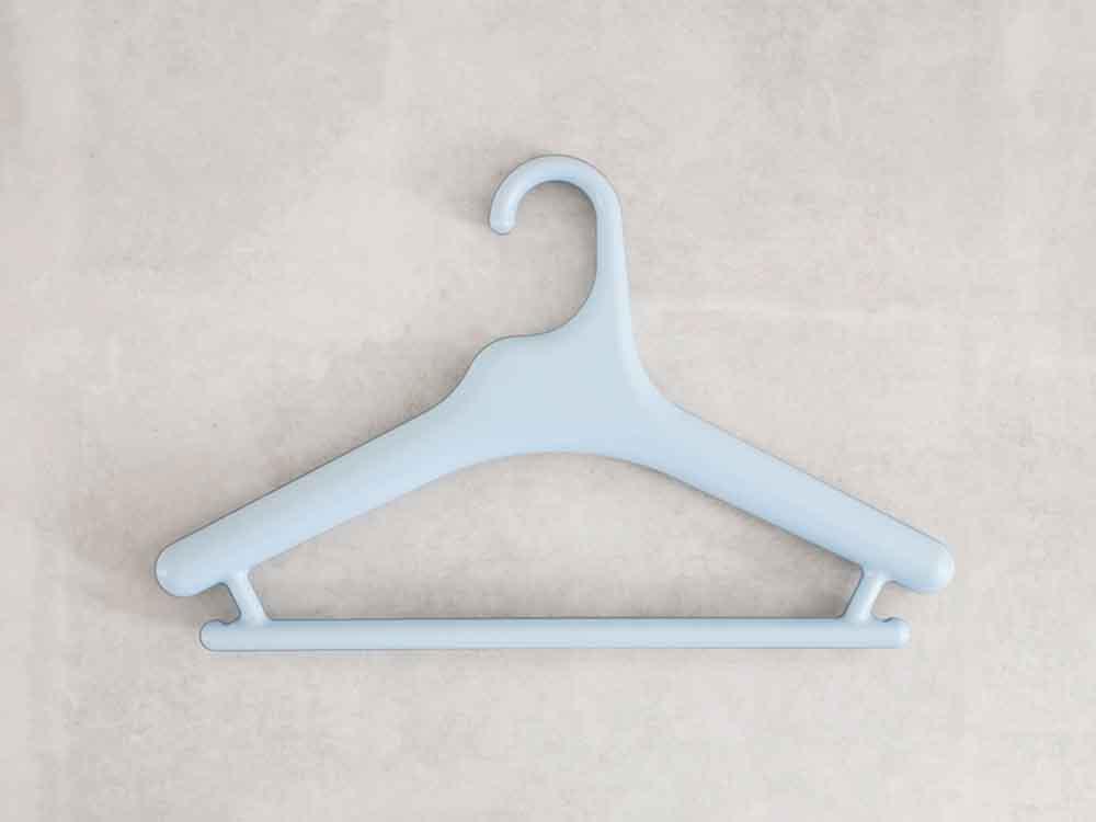 【like-it】Midline 370 滑り止めがついた衣類ハンガー 10本セット ライトブルー