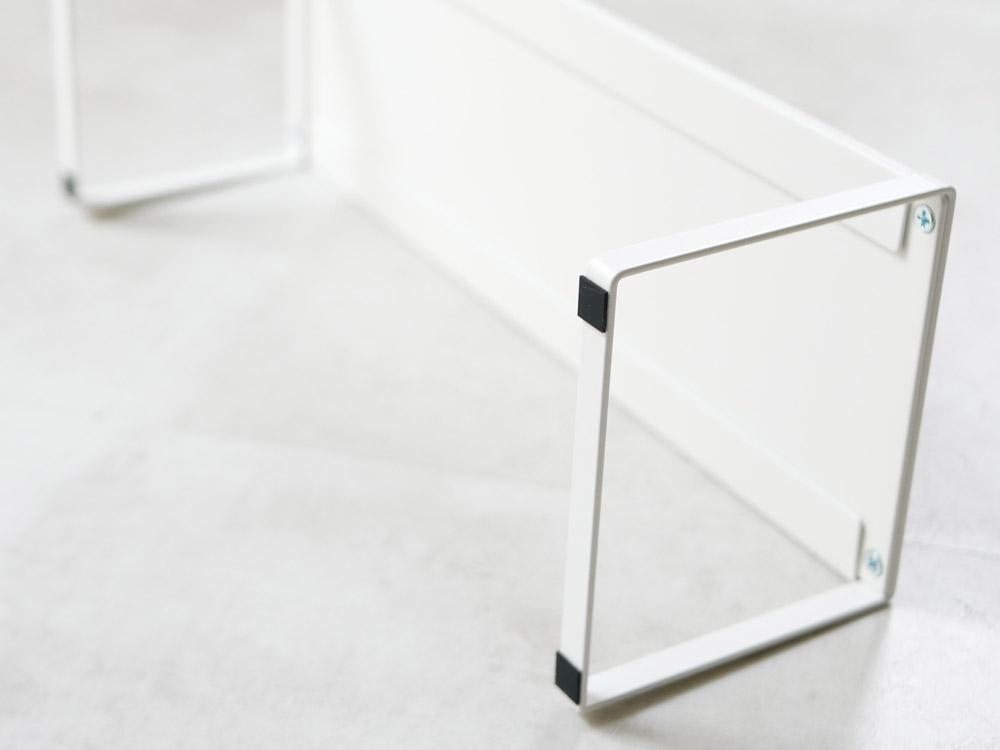 【frame】下駄箱中 伸縮シューズラック ホワイト