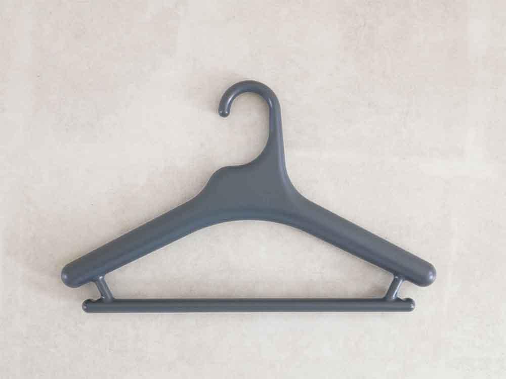 【like-it】Midline 370 滑り止めがついた衣類ハンガー 10本セット ダークグレー