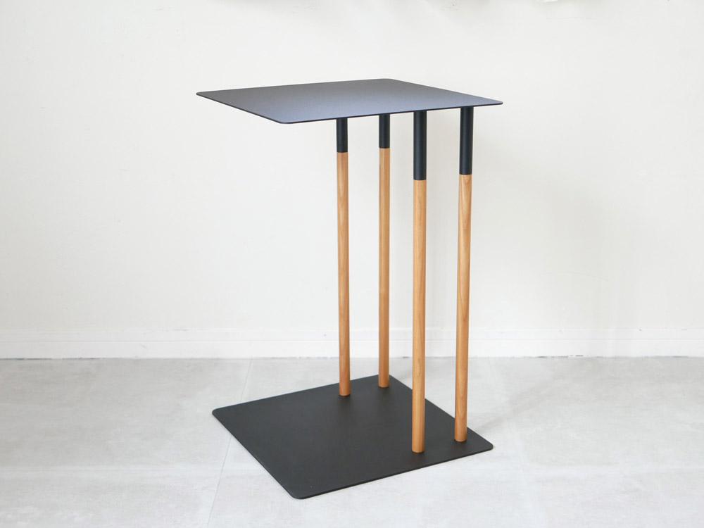 【Plain】差し込みサイドテーブル ブラック