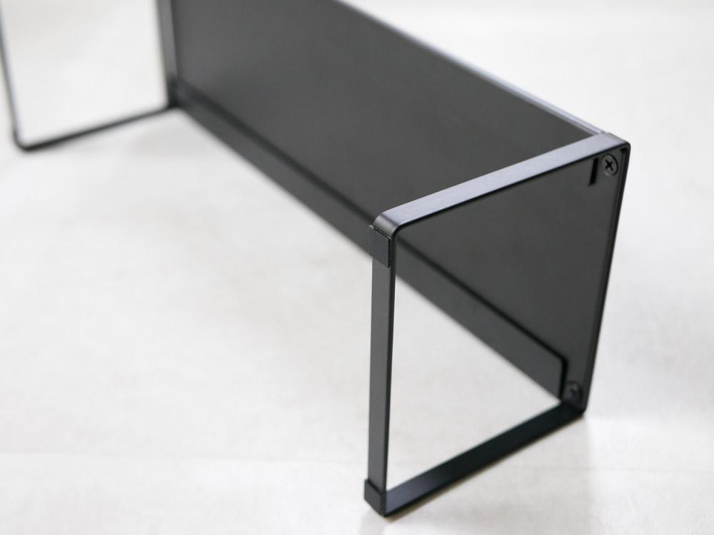 【frame】下駄箱中 伸縮シューズラック ブラック