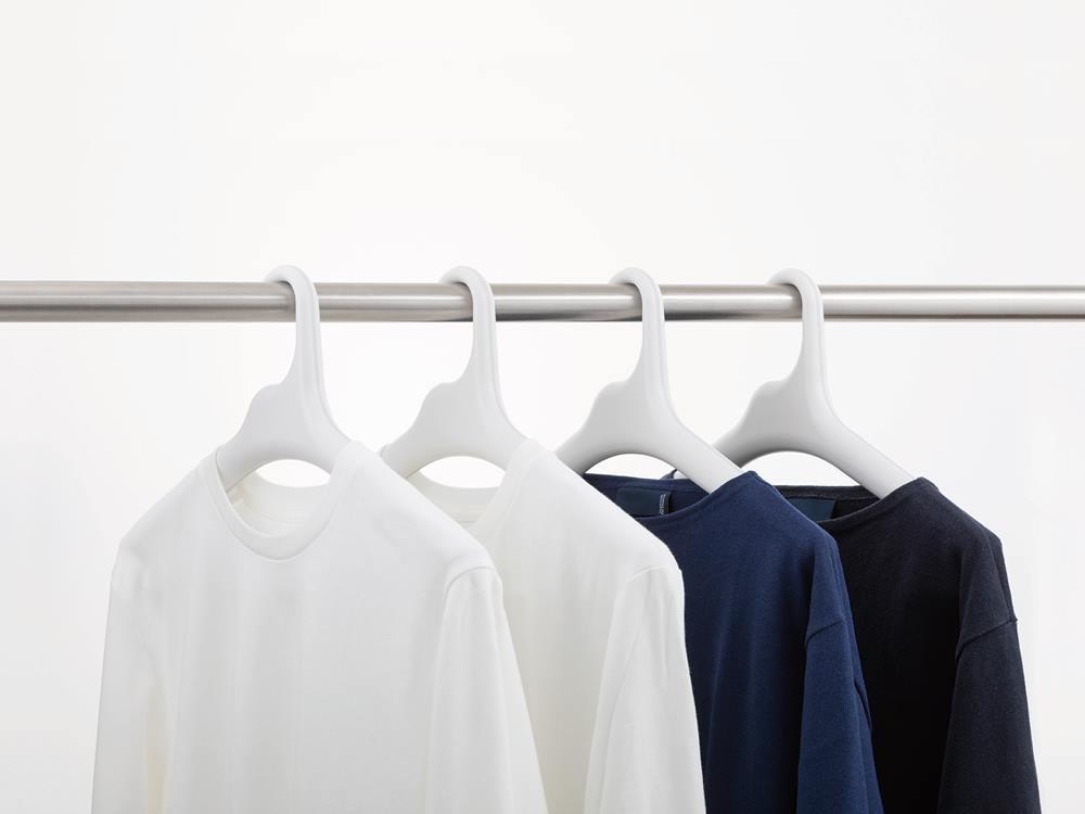 【like-it】Midline 420 滑り止めがついた衣類ハンガー 1本 ホワイト