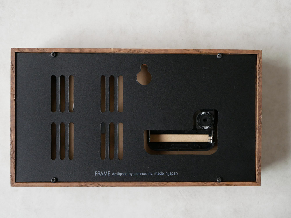 【Lemnos】FRAME 温湿度計付き ブラウン【受注生産品】