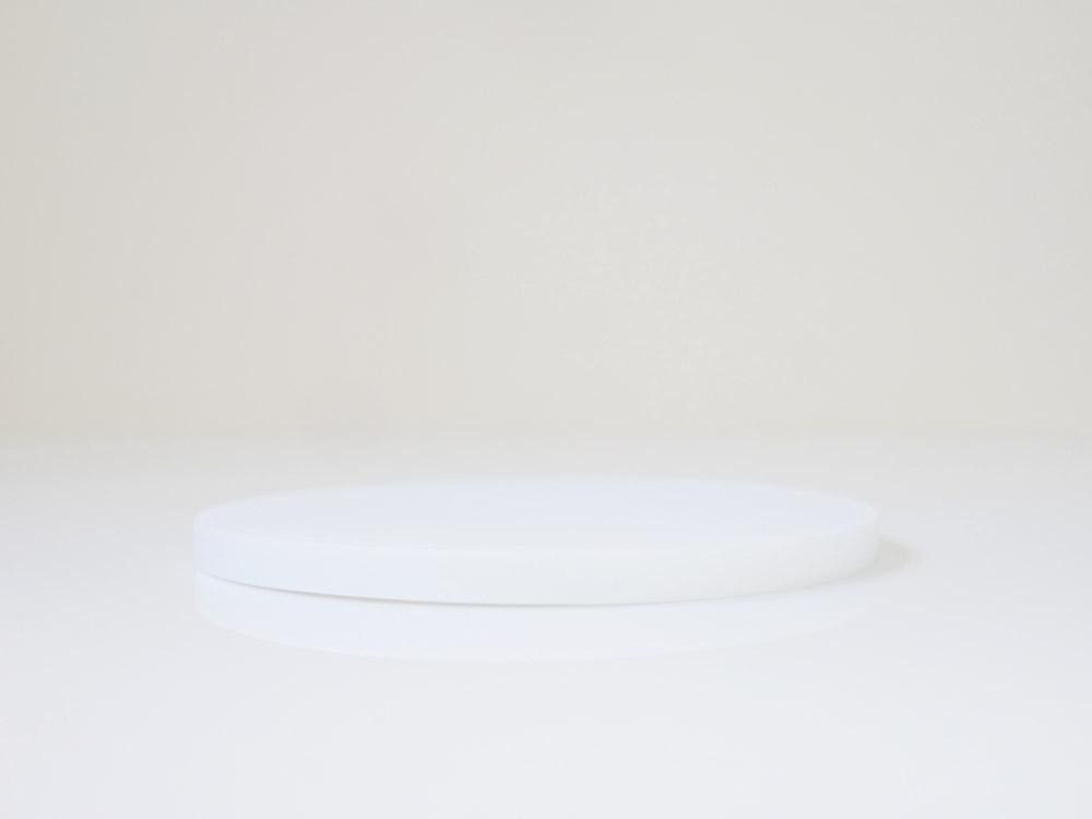 【tower】シリコン鍋敷き 丸型 ホワイト