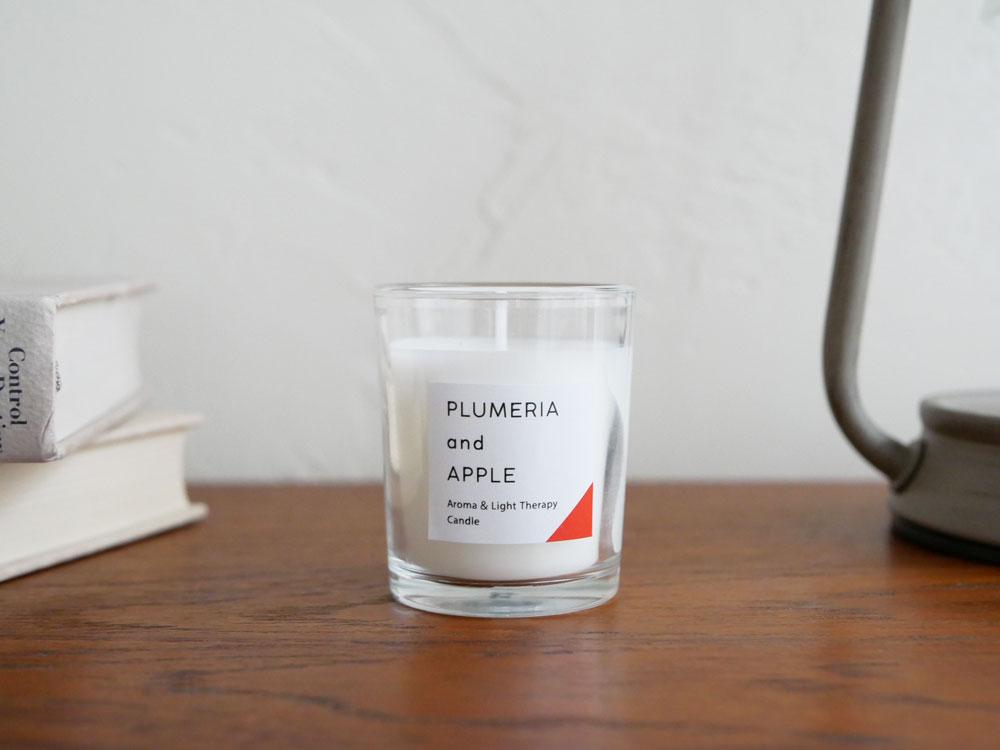 【カメヤマキャンドル】香るキャンドル プルメリア&アップル