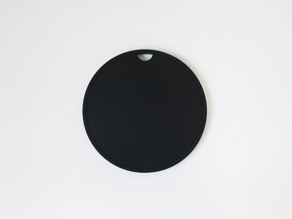 【tower】シリコン鍋敷き 丸型 ブラック