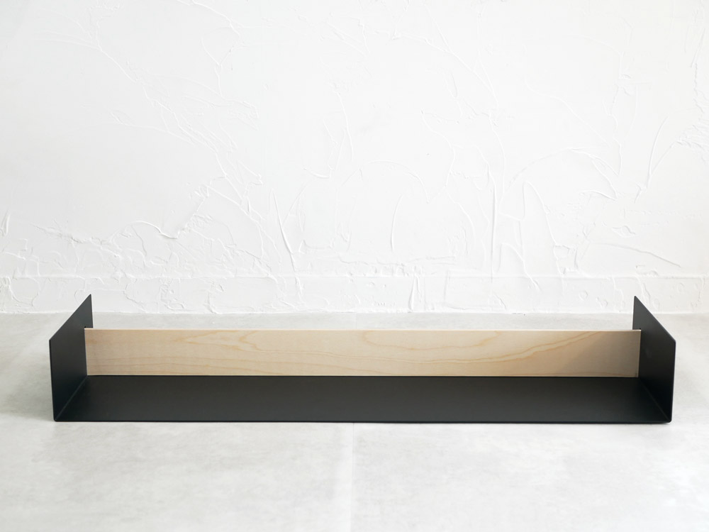 【NakNak】BEAM メタルシェルフ L ブラック