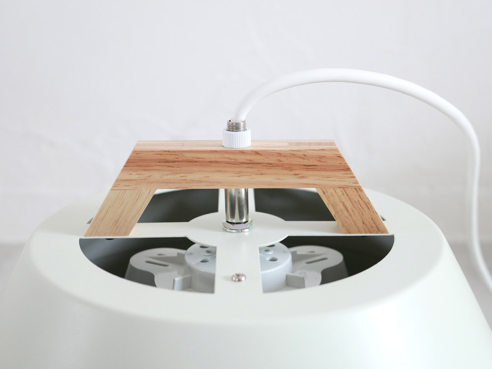 【BRID】LAMP by 2TONE 3バブル ペンダントライト(電球あり) ホワイト