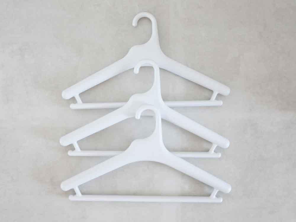 【like-it】Midline 420 滑り止めがついた衣類ハンガー 3本セット ホワイト