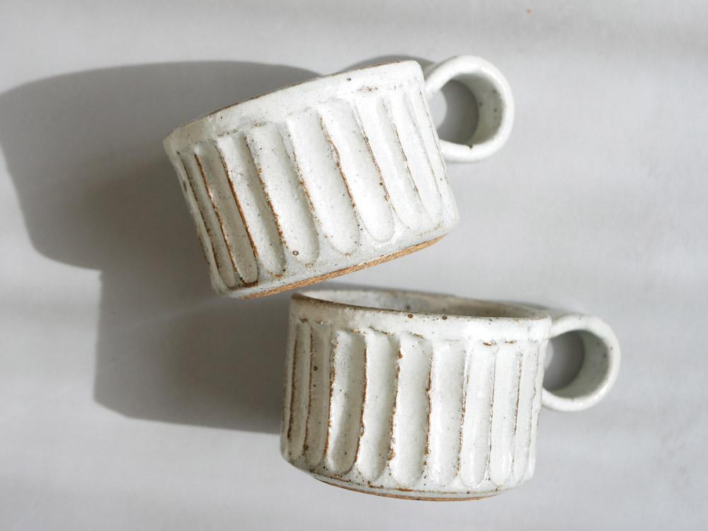 【兵山窯】しのぎ コーヒー碗