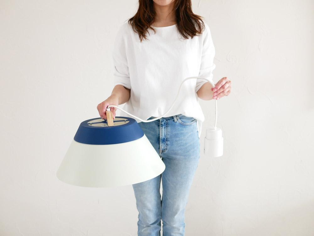 【BRID】LAMP by 2TONE 3バブル ペンダントライト(電球あり) ネイビー