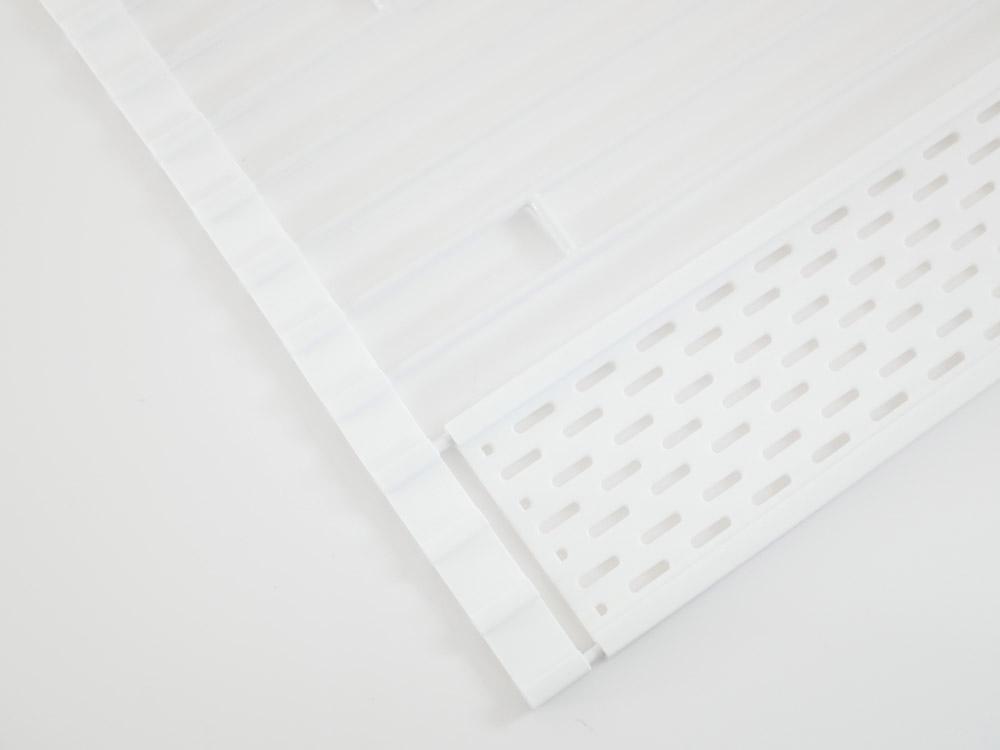 【tower】折り畳み水切り シリコーントレー付き L/ホワイト