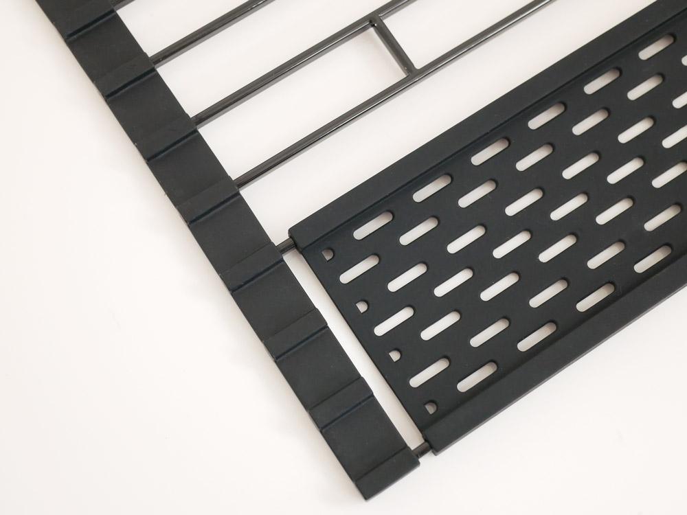 【tower】折り畳み水切り シリコーントレー付き L/ブラック