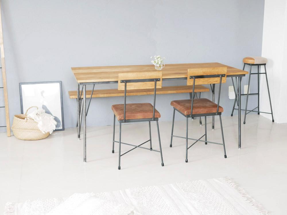 【SIKAKU】 Oak ダイニングテーブル/120cm【受注生産品・メーカー直送・代引き不可商品】