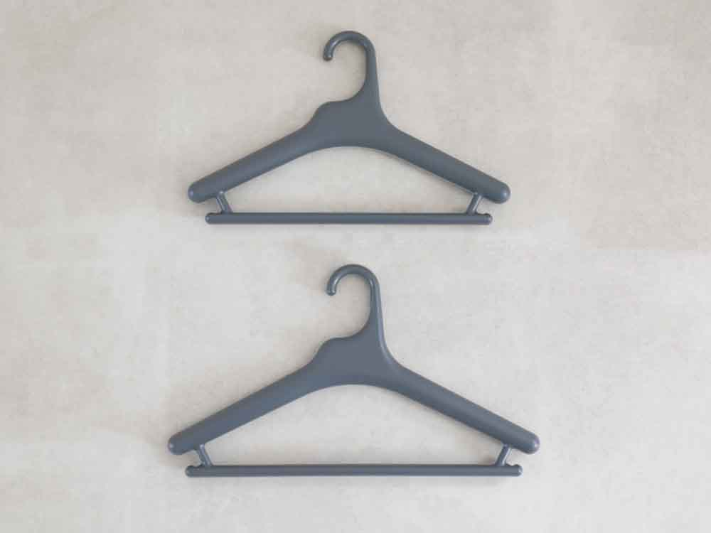 【like-it】Midline 420 滑り止めがついた衣類ハンガー 3本セット ダークグレー