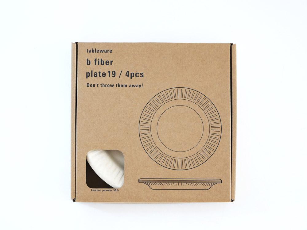 【ideaco】b fiber プレート19 4枚セット オフホワイト