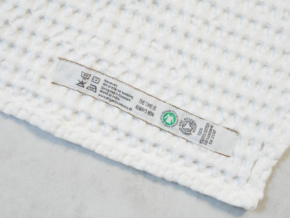 【The Organic Company】ビッグワッフルベビータオル ホワイト