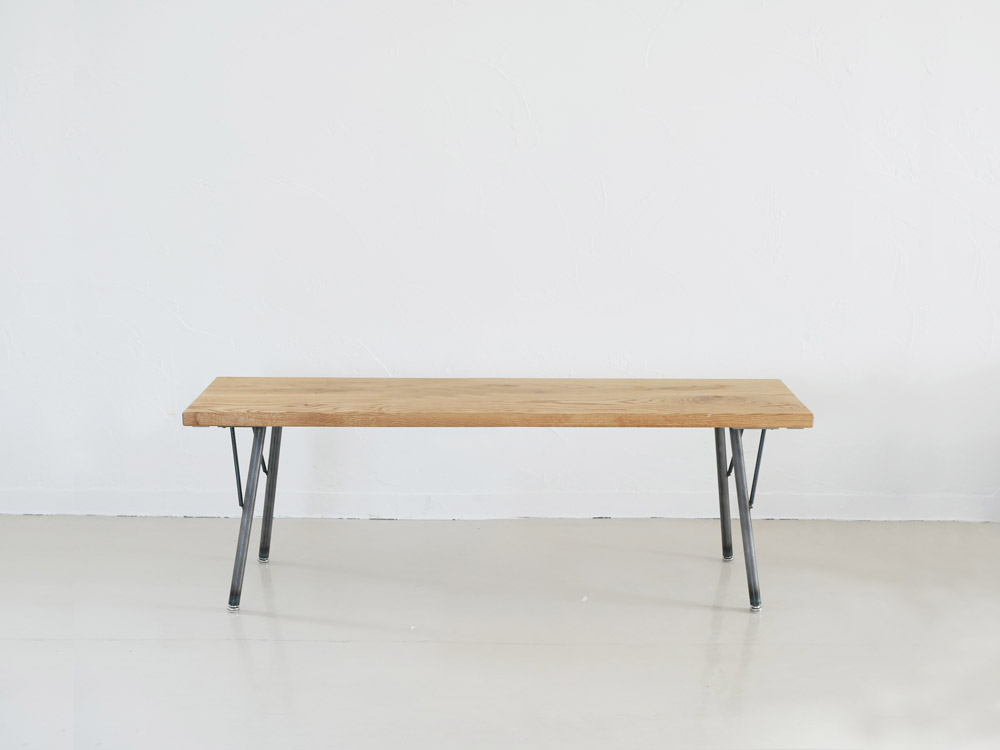 【SIKAKU】Oak ベンチ/120cm【受注生産品・メーカー直送・代引き不可商品】