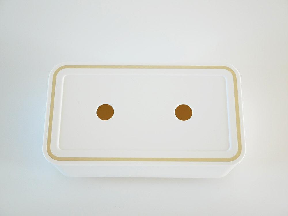 【ecoroof】ティッシュケース ホワイト