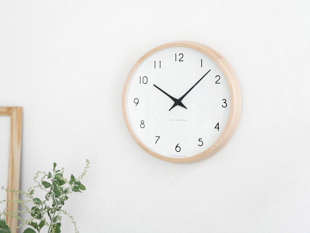 【Lemnos】Campagne 電波時計 ナチュラル【受注生産品】
