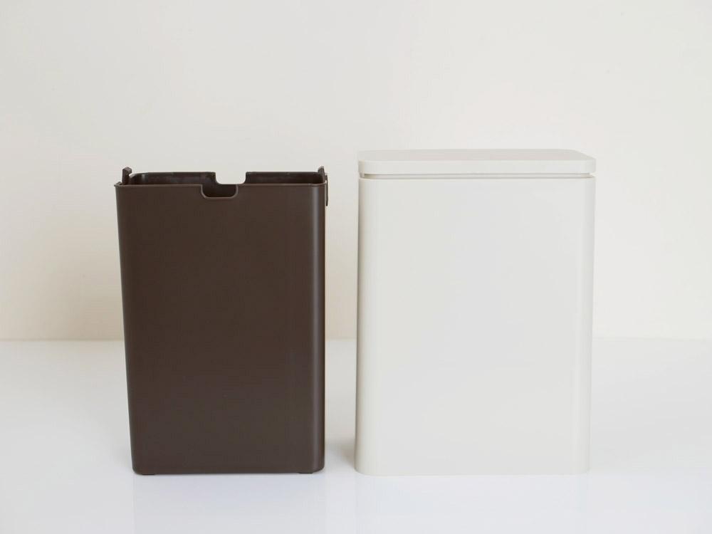 【TUBELOR】ミディアムフラップ 密封容器型衛生ゴミ箱 サンドホワイト