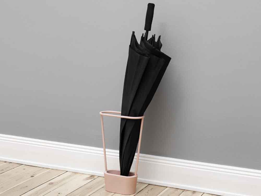【NakNak】HOOP傘立て ブラック