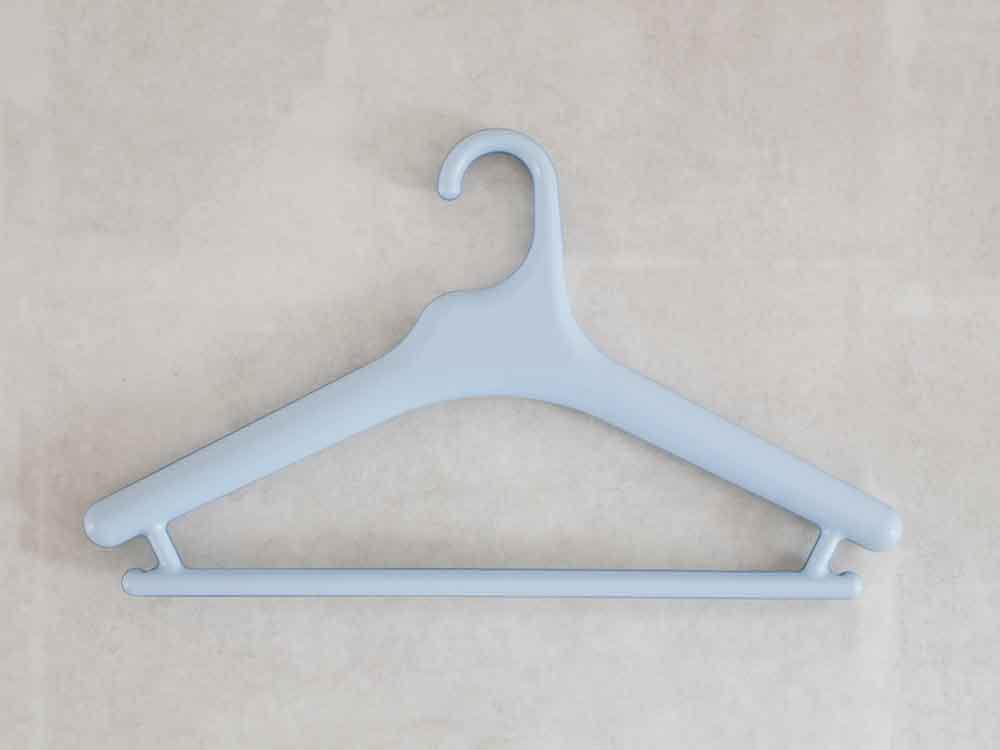 【like-it】Midline 420 滑り止めがついた衣類ハンガー 10本セット ライトブルー