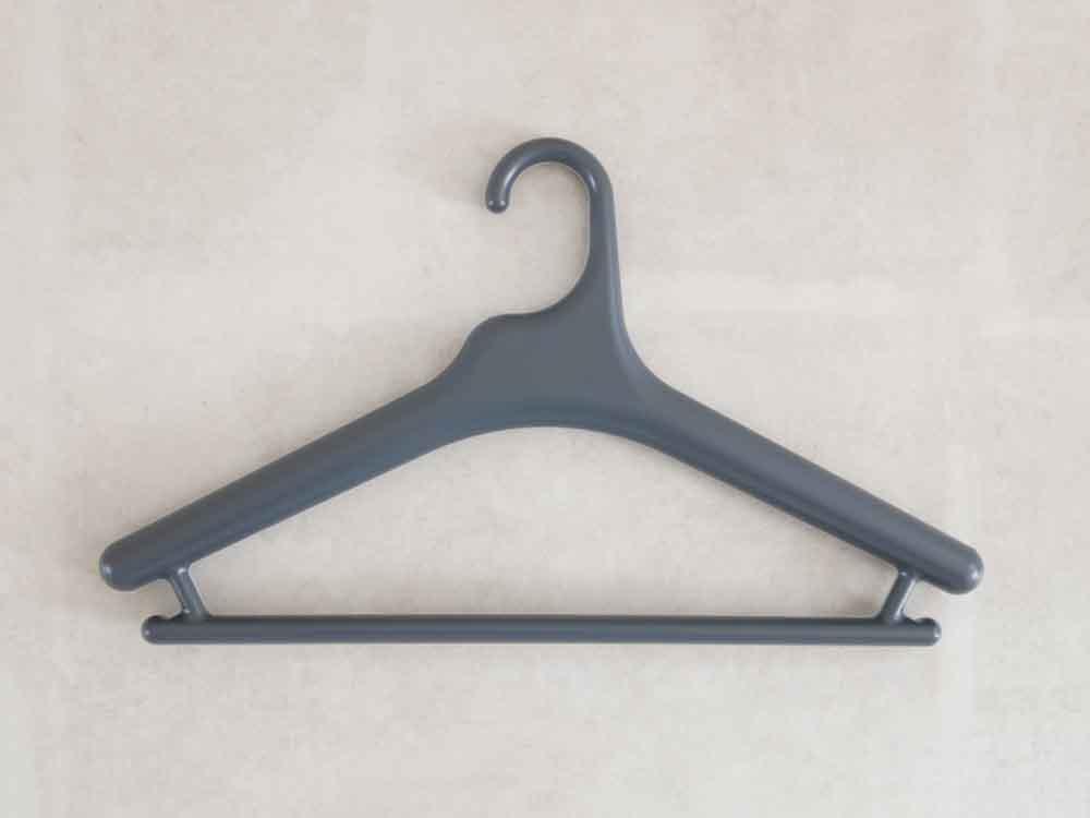 【like-it】Midline 420 滑り止めがついた衣類ハンガー 10本セット ダークグレー