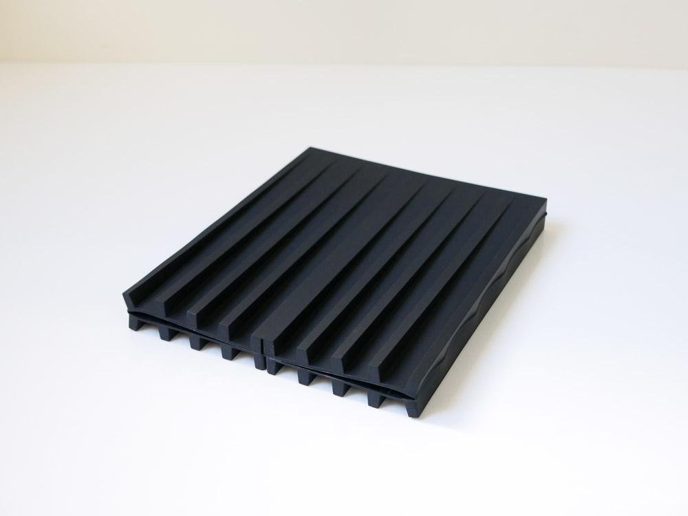 【tower】折り畳み水切りトレー ブラック