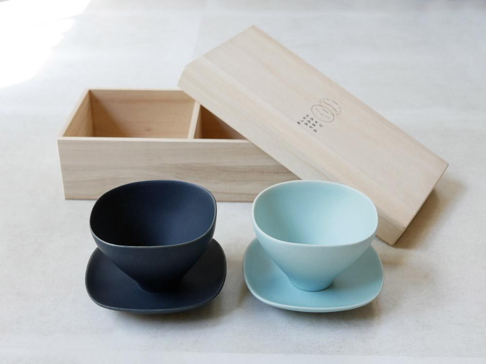 【SAKUZAN】カラーが選べる カップ&ソーサペアGIFT【受注生産商品】