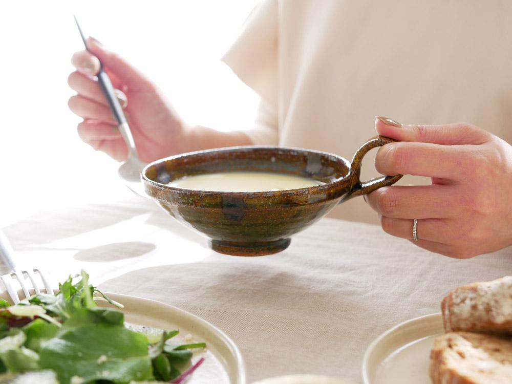 【南窯】スープカップ 青美濃