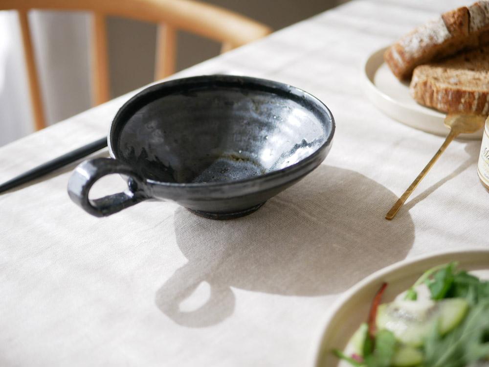 【南窯】スープカップ 黒美濃
