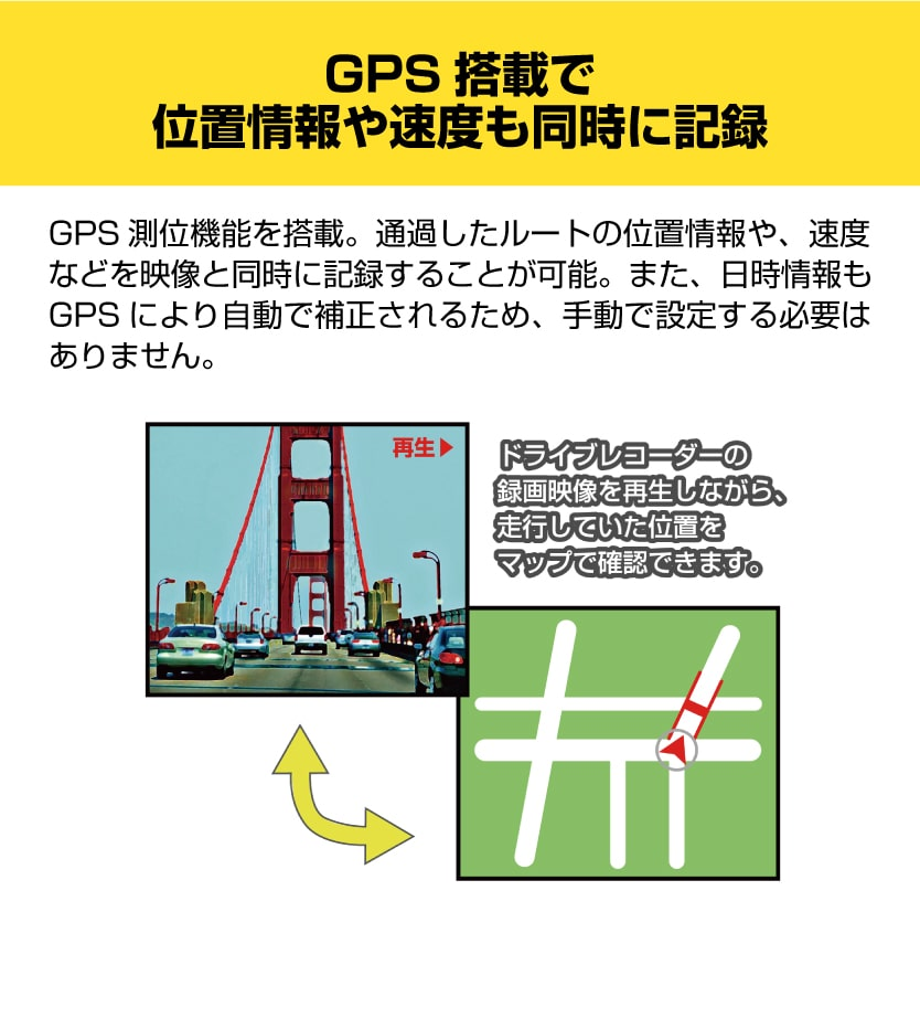 DL-G360DR 前後GPS機能搭載360°ドライブレコーダー【出張取り付け工事費込み】