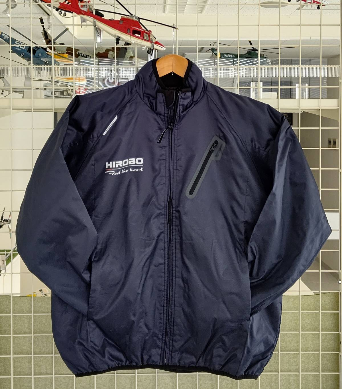 ヒロボー HIROBO チームグッズ 【2515-187】 ライトウォームジャケット ネイビー Mサイズ