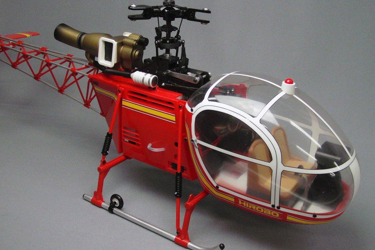 ヒロボー HIROBO  RCヘリコプター【0412-968】30スケール lama ラマ SA-315B赤 MRB-ⅢメタルR/H仕様 組立キット