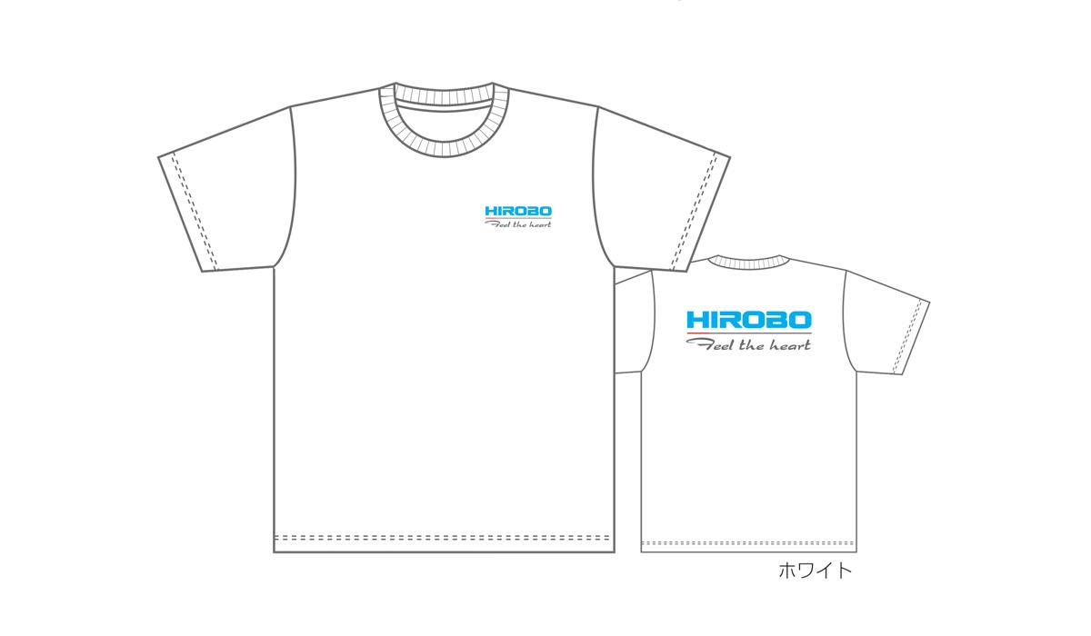 ヒロボー HIROBO チームグッズ 【2515-166~171】ドライTシャツ ホワイト SS~3L  ※レターパック可