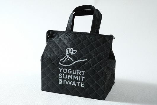 【第3回ヨーグルトサミットinいわて開催記念】オリジナル保冷バッグ(黒)