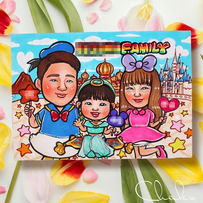 family似顔絵