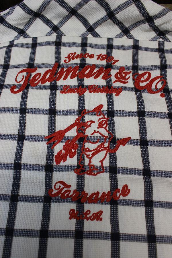 エフ商会 TEDMAN(テッドマン) TCHS-100 コットンとポリエステルを混合した素材のチェックシャツ