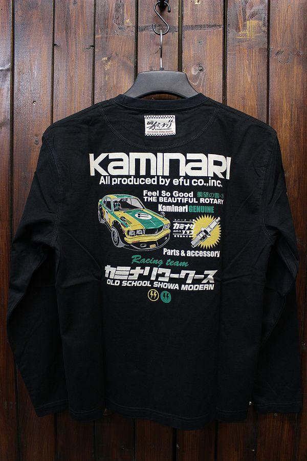 エフ商会 カミナリワークス 雷 KMLT-154 サバンナ RX3 昭和  長T 長袖Tee ロンT ブラック